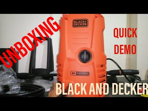 Unboxing Black And Decker PW1400 Pressure Washer (Quick Review)