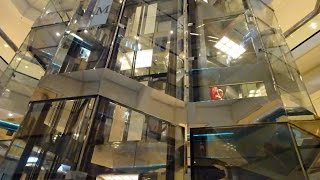 For Dieselducy: Very Nice & BUSY Otis Scenic Traction Elevators @ Water Tower Place, Chicago, IL