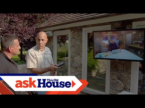 how to install an outdoor television youtube. Black Bedroom Furniture Sets. Home Design Ideas