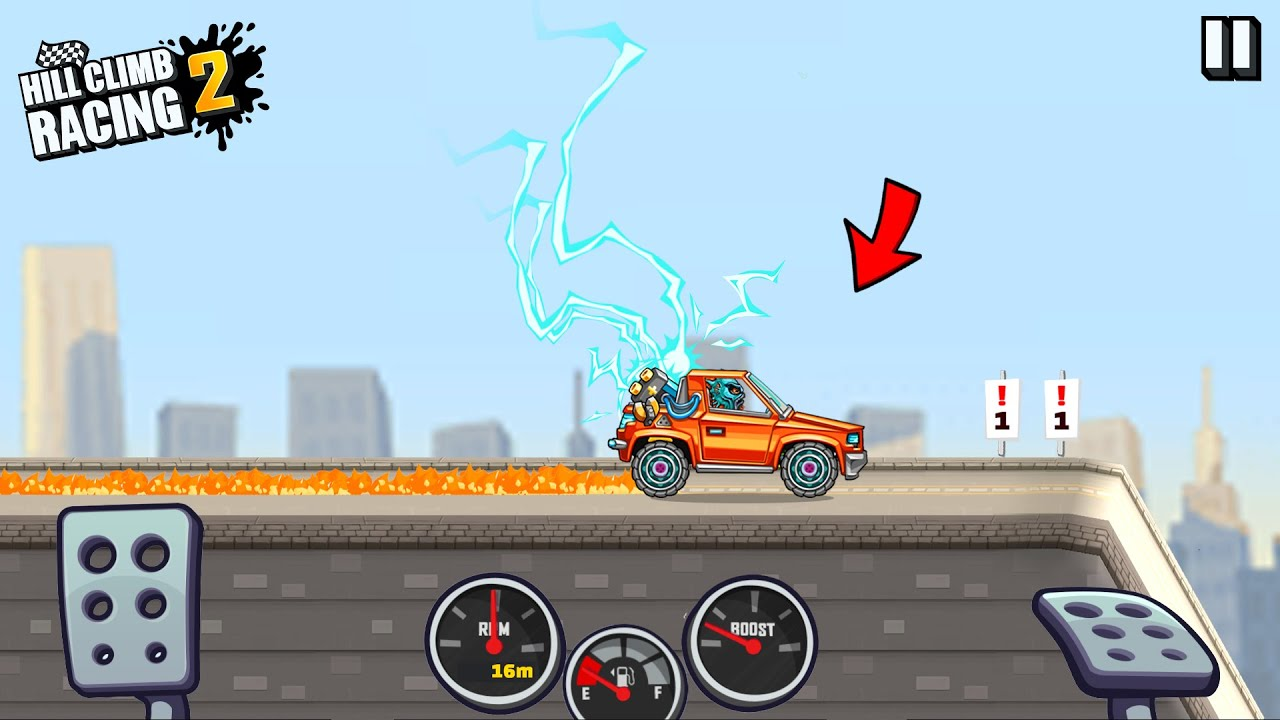 Download Hill Climb Racing 2 - 17870m on ELECTIC CAR in CITY   GAMEPLAY
