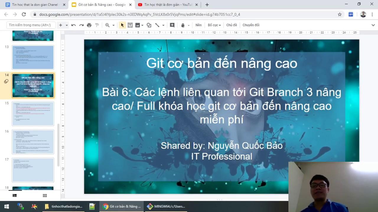 Bài 6: Các lệnh liên quan tới Git Branch 3 nâng cao/ Full khóa học git cơ bản đến nâng cao miễn phí