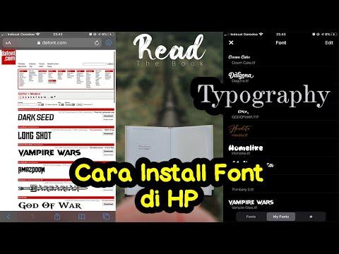 Cara Install Font Di HP Untuk Typography