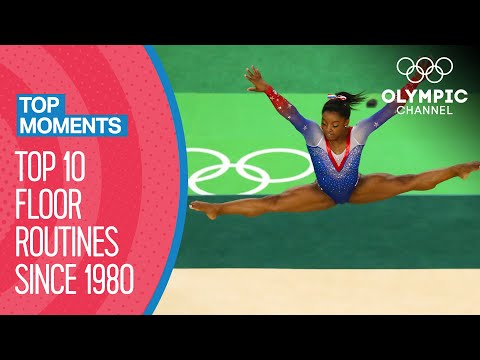 The last 10 gold-winning floor routines in Artistic Gymnastics | Top Moments