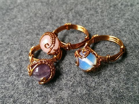 Rings With Spherical Stones Handmade Jewelry Design 122