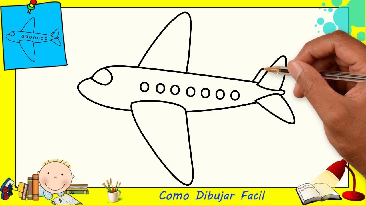Dibujos De Avions FACILES Paso A Paso Para Niños