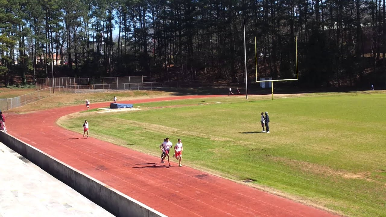 Max's first track meet. 1 mile run. - YouTube
