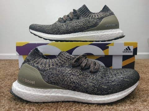 3a3764a84659 Adidas Ultra Boost Uncaged Shoes Trace Cargo Unboxing   On Feet