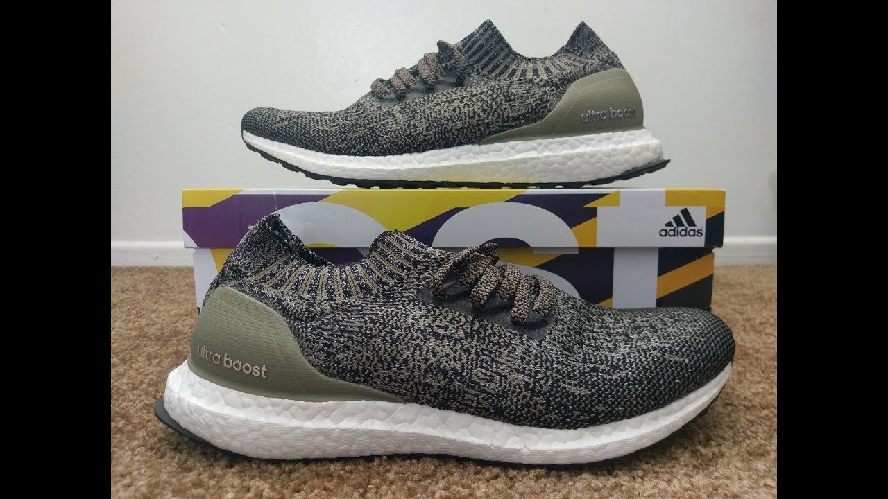 new arrival de1c4 9adf8 Adidas Ultra Boost Uncaged Shoes Trace Cargo Unboxing   On Feet