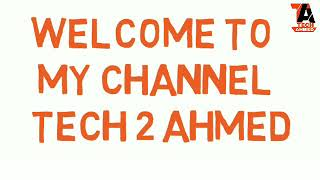 Tech 2 Ahmed channel amazing animation intro bangla. By tech2ahmed