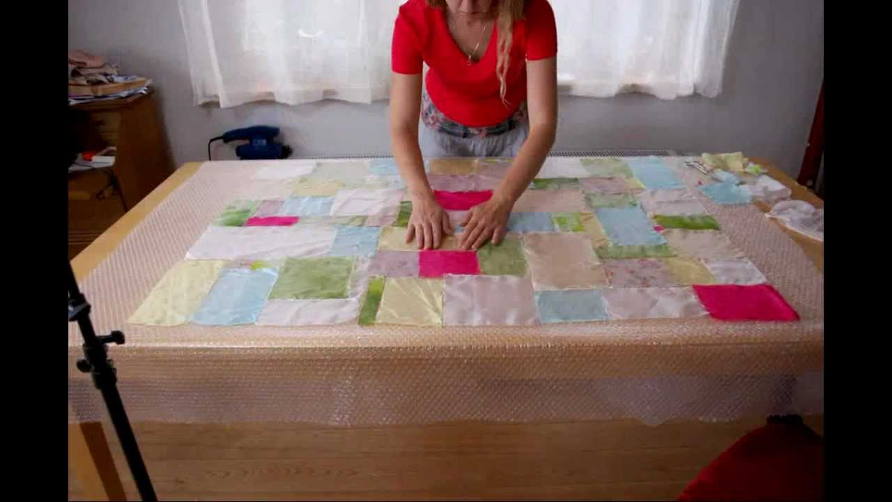 Stop N Shop Hours >> Nuno felted quilt tutorial - YouTube