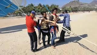 Vizag boys Parasiling journey in fujairah Beach, UAE