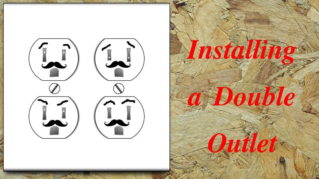 hight resolution of how to install a double electrical outlet