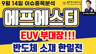 에프에스티(036810)- EUV 부대장!!! 반도체 …