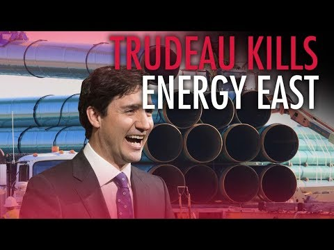 Media covers up Trudeau's role in killing Energy East
