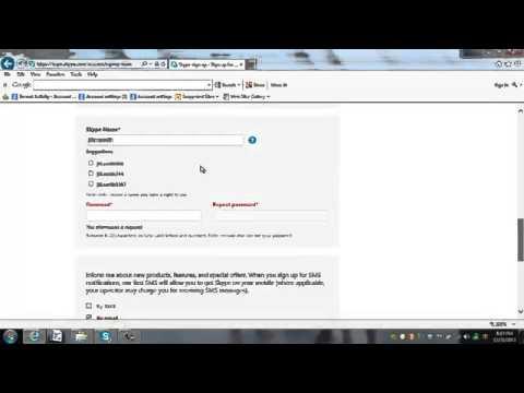 How To Set Up Free Skype Account Skype