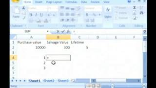 How to Calculate Straight-Line Depreciation Using Microsoft Excel