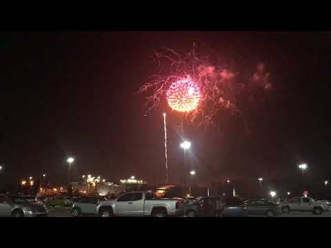 Disney MK Cast Member Parking Lot Fireworks View 1
