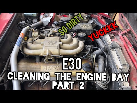 PART 2 | STARTED CLEANING THE ENGINE BAY | E30 | PAINTING SIDE MIRRORS | AIR VENTS | HEADLIGHT COVER