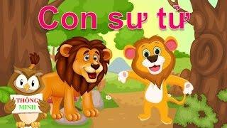 Dạy bé học các con vật |Em tập nói và nhận biết tiếng kêu động vật con sư tử con hổ | dạy bé online