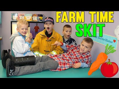Trouble on the Farm! Twin Time Playtime Skit