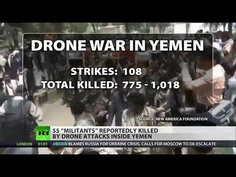 U.S. drone strikes in Yemen leave scores dead