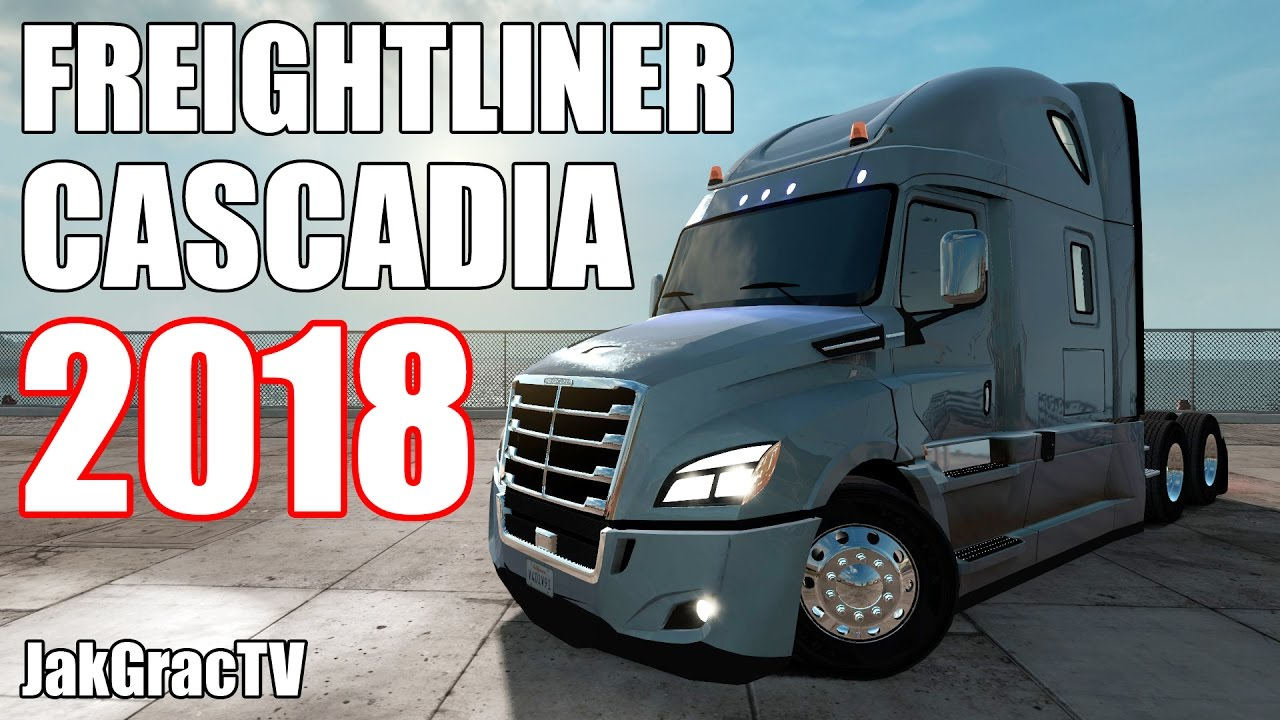 american truck simulator freightliner cascadia 2018. Black Bedroom Furniture Sets. Home Design Ideas