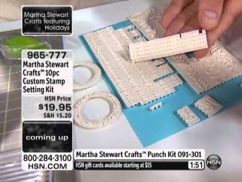 Martha Stewart Crafts 10 Piece Custom Stamp Setting Kit