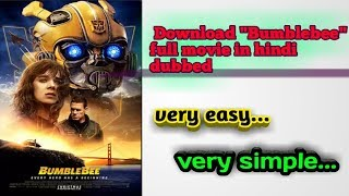 Download bumblebee full movie in HD hindi dubbed...