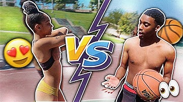 1v1 S.T.R.I.P. BASKETBALL VS MY GIRLFRIEND