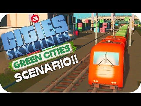 Cities: Skylines Scenario ▶OILY CARGO HUB◀ Green Cities DLC Scenario Clean Up Crew Part 9