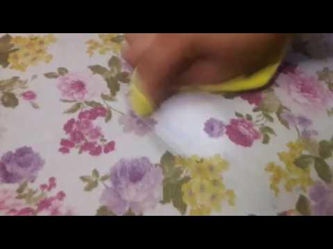 GLİNT desenli koltukta mürekkep lekesi temizliği