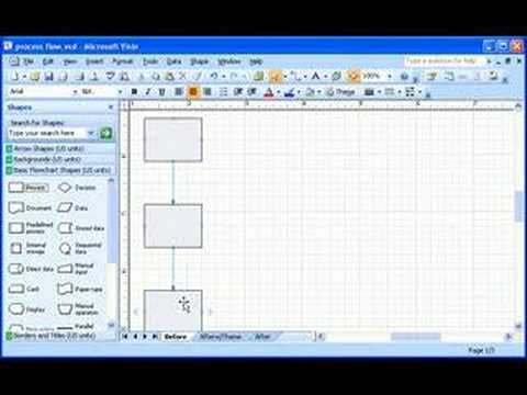 Visio 2007 Demo: Build a flowchart quickly with AutoConnect - YouTube
