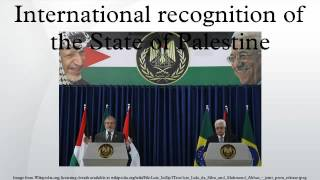 International recognition of the State of Palestine