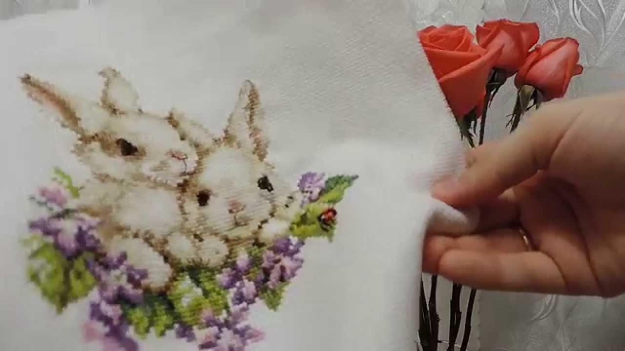 Крольчата алиса вышивка