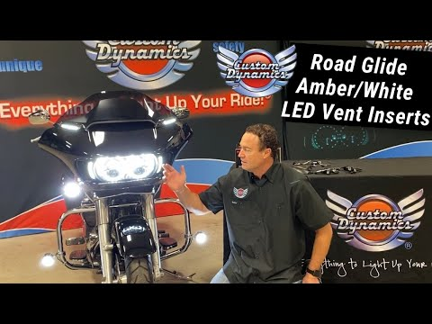 Road Glide Amber White LED Vent Inserts by Custom Dynamics