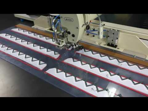 Sewing ornamental thread for under layer button placket