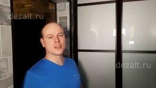 Распашные алюминиевые двери со вставками Лакобель(, 2016-04-08T19:43:54.000Z)