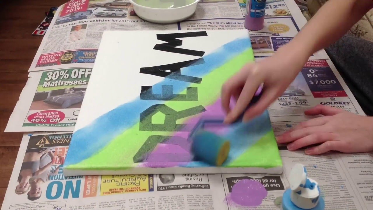 DIY Canvas Word Wall Art