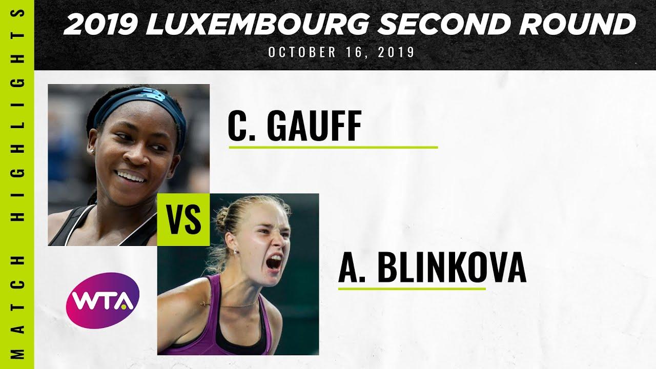 best supplier best website new style Coco Gauff vs. Anna Blinkova | 2019 Luxembourg Open First Round | WTA  Highlights