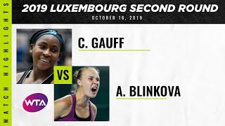 Coco Gauff vs. Anna Blinkova | 2019 Luxembourg Open First Round | WTA Highlights