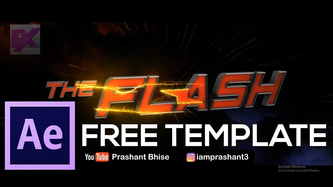 free the flash title animation template after effects cs6 above with tutorial guide element 3d