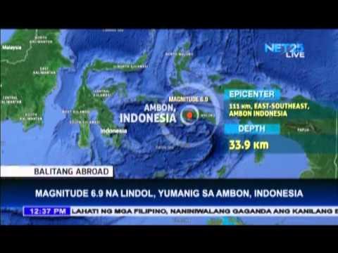 6.9 magnitude earthquake rocks Ambon, Indonesia