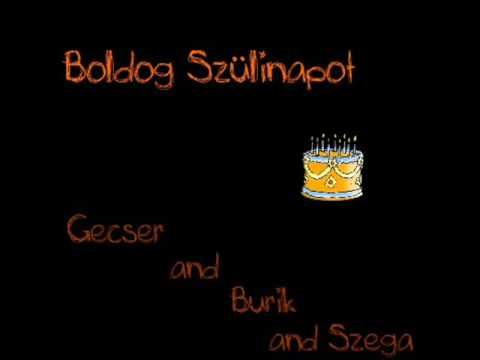 boldog szülinapot rap Gecser & Burik and Szega   Boldog Születésnapot