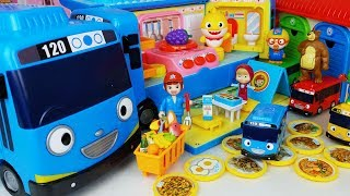 Tayo Bus Camping car and Baby doll picnic toys cooking play - 토이몽