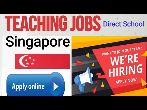 #Overcome#Teaching Jobs In Singapore||How To Apply Online|| Qualifications|| Experiences