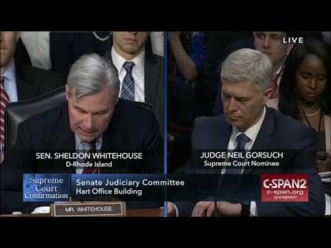 Sheldon Whitehouse opening statement at Gorsuch confirmation hearing