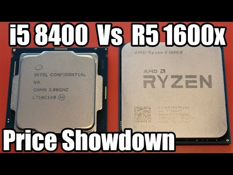 i5 8400 Vs Ryzen 5 1600x Showdown - Price to Price Comparison!