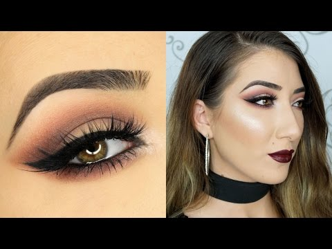 Cranberry Smokey Cat Eye Makeup Tutorial