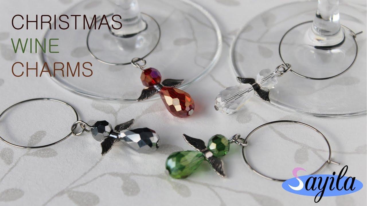 schmuck basteln christmas wine charms diy anleitung by sayila - Christmas Wine Charms