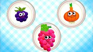 Funny Food 2 - Kids Learn Colors, Numbers & Shapes - Fun Educational Games